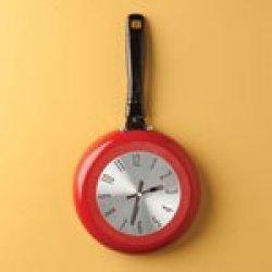 Kitchen Frying Pan Clock