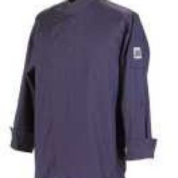 Chef Revival J113Ept-Xl Poly-Cotton Knife And Steel 3/4 Sleeve Chef Jacket With Hidden Snaps, X-Large, Eggplant