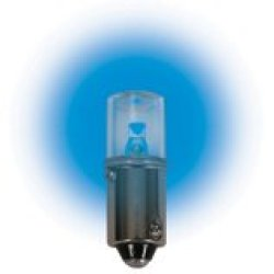 (Pack Of 2) 120 Volt.T3 ¼ Miniature Bayonet (Ba9S) Base Led Light Bulb 0.72 Watt Color Blue