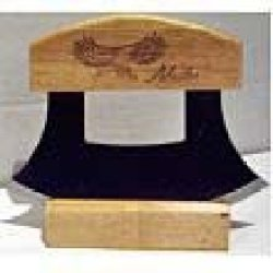 Alaskan Ulu Etched Eagle Wood Handle Knife & Display Stand