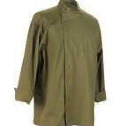 Chef Revival J113Og-L Poly-Cotton Knife And Steel 3/4 Sleeve Chef Jacket With Hidden Snaps, Large, Olive