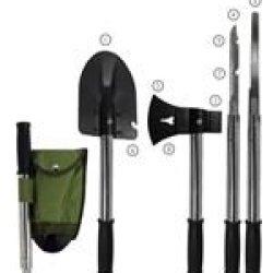 Doomsday Shovel 9 In 1 Mini Shovel Combo Shovel Axe Hammer,Knife,Saw,Can Opener, Etc