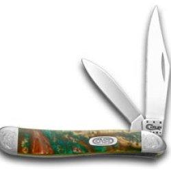 Case Xx Engraved Bolster Series Rain Forest Corelon Peanut Pocket Knife Knives