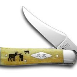 Case Xx Antique Bone The Rut Russlock 1/500 Pocket Knife Knives