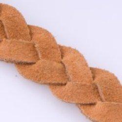 Orange Flat Braided Suede, 5Mmx2M