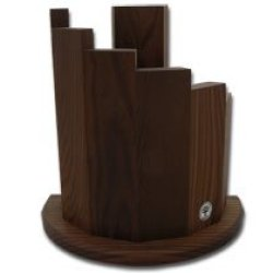 Boker Tree Brand Makassar Wood Magnetic Knife Block For Premium Kitchen Cutlery Knives