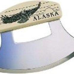 Inupiat Style Cultured Ivory Handle Eagle Ulu Knife