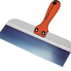Kraft Tool Dw914Pf Deluxe Steel Taping Knife, 14-Inch X 3-Inch, Blue