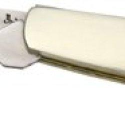 Bear & Son Barlow Fold Knife, High Polished 1095 Carbon Steel Blade, Red Stag Bone Handl Crsb281