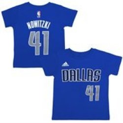 Toddler Dallas Mavericks Dirk Nowitzki Adidas Navy Blue Name And Number T-Shirt
