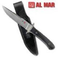 Al Mar Knives Svbm Limited Shiva Fixed Blade Knife With Black Micarta Handles