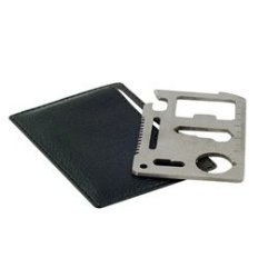 Card Shaped Multifunctional Survival Tool (Silver)