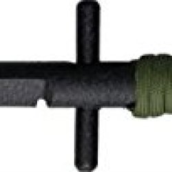 Shadow Tech Fixed Knife, Black Finish O1 Tool Steel Cylindrical Blade, Od Green Paracord Stscbpgr
