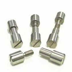 """Two Stainless Corby Style Rivets 5/16"""" Head X 1-1/8"""" Length"""