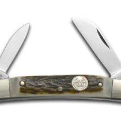 German Buck Creek Genuine Deer Stag Cobra Pocket Knife Knives