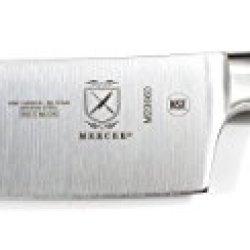 "Mercer Culinary M23660 Renaissance Forged Nakiri, 7"", Stainless Steel, Black"
