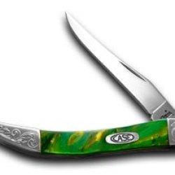 Case Xx Engraved Bolster Series Genuine Cats Eye Corelon Toothpick Pocket Knife