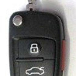 2005-2010 Audi A8 Quattro Remote W/ Uncut Flip Key Fcc Id: Nbg009272T