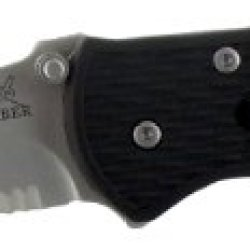 Gerber 22-41525 Mini-Fast Draw Spring Assisted Opening Stainless Steel Serrated Knife