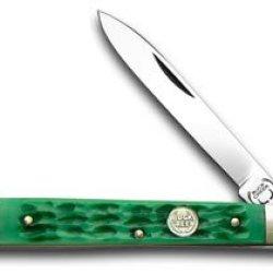 Buck Creek Green Picked Bone Doctor Pocket Knife Knives