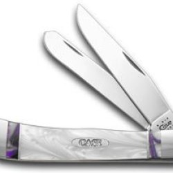 Case Xx Purple Passion And White Pearl Corelon Trapper Pocket Knife Knives