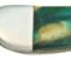 Case Cutlery 910096Ce Cats Eye Corelon Toothpick Pocket Knife With Stainless Steel Blade, Teal, Blue And White Mixed Corelon