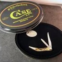 Case Cutlery Cheetah Cub Genuine Burnt Sambar Stag (511 1/2L Ss) In Tin