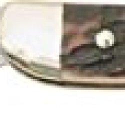 German Eye Toothpick Folding Knife,Solingen Long Clip Blade, Genuine Deer Stag Handle Tp-Ds
