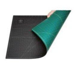 Alvin Professional -Self Healing Cutting Mat Green/Black (12X18)