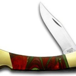 Buck 110 Custom Fire Mist Green Corelon Folding Hunter Pocket Knife Knives