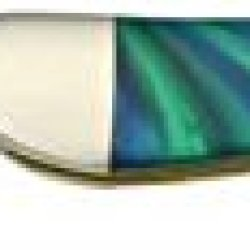 Case Cutlery 910096Aq Aquarius Corelon Toothpick Pocket Knife With Stainless Steel Blade, Blue And Green Mixed Corelon
