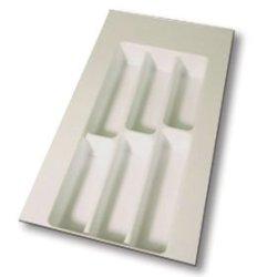 """10"""" X 21"""" Flatware Drawer Organizer, White"""