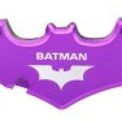 "Purple Batman Twin Blade Batarang Style Folding Knife 5"" Closed"