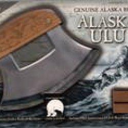 Alaska Ulu Knife With Etched Bald Eagle Handle And Dvd