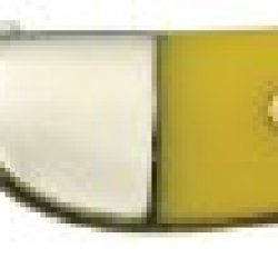 Frost Cutlery & Knives Sw109Y Yellow Series - Steel Warrior Small Toothpick Pocket Knife With Yellow Composition Handles