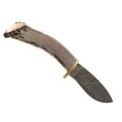 Silver Stag Crown Twist Fixed Knife Dct3.5