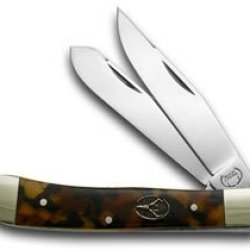 Buck Creek Tortoise Shell Celluloid Trapper Pocket Knife Knives