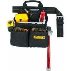 Dewalt Dg5602 9-Pocket Deluxe Carpenter'S Nail And Tool Bag
