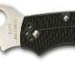 Spyderco Cara Cara Rescue Knife With Black Frn Handle, Plain