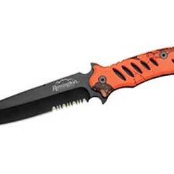 Remington Fast Lever Fixed Blade Knife Mossy Oak Blaze Orange Combo Steel 19761