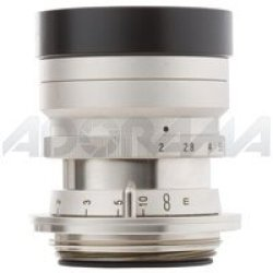 "Voigtlander Anniversary Heliar 50 F/2.0 Screw Mount Lens With ""M"" Bayonet Adapter - Nickel."