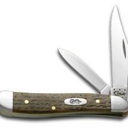 Case Xx Antique River Log Wood Peanut 1/1000 Stainless Pocket Knife Knives
