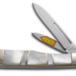 Steel Warrior Genuine Mother Of Pearl Gunstock Stainless Pocket Knife Knives
