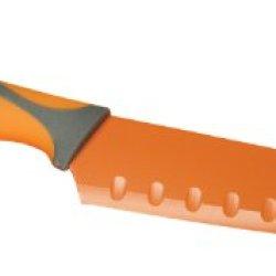 Fox Run Non-Stick Santoku Knife, 7-Inch, Orange