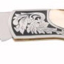 Gerber 22-41052 Stag Lock-Back Double Bolster Fine Edge Pocket Knife