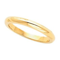 14K Rose Gold Solstice Solitaire® Tapered Knife Edge Band