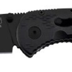 Sog Specialty Knives & Tools Ae22-Cp Aegis Mini Knife With Straight Edge Assisted Folding 3-Inch Aus-8 Steel Blade And Grn Handle, Black Tini Finish