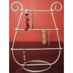 Silver Jewelry Harp Bracelet Rack Stand Holder Gift