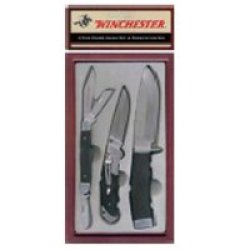 Winchester 22-41276 Rubber Handled Knife Set, Three Piece In Presentation Box