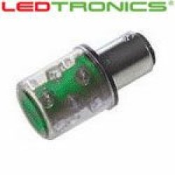 Ledtronics Stl602-03-02, Led Bulb (Pack Of 2) For Machine Status Indicators, Green, 120Vac